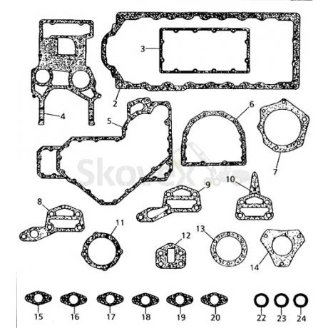 Gasket kit PERKINS (LOWER)