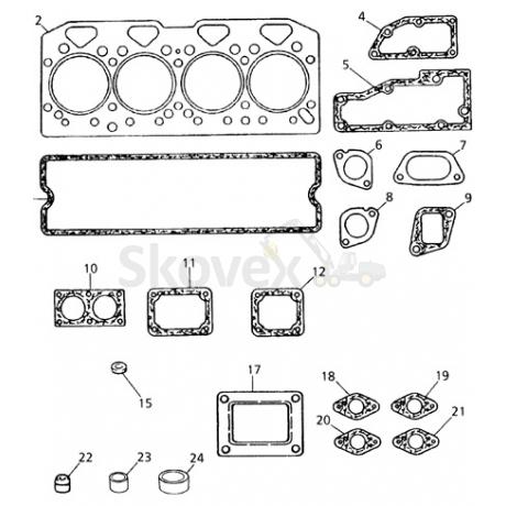 Gasket kit PERKINS 1004 (upper)