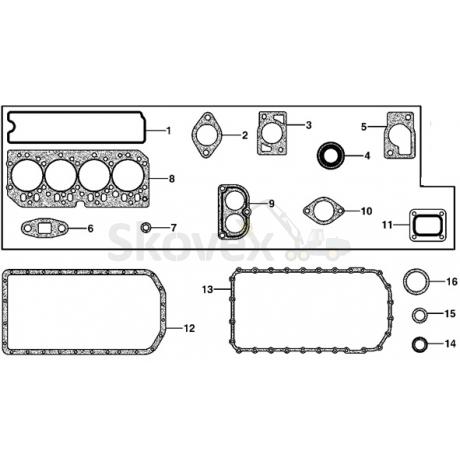 Gasket kit (semi) JD4045,810D,770D,1010D
