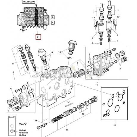 Блок Клапана  ТЕЛЕСКОПА LS90