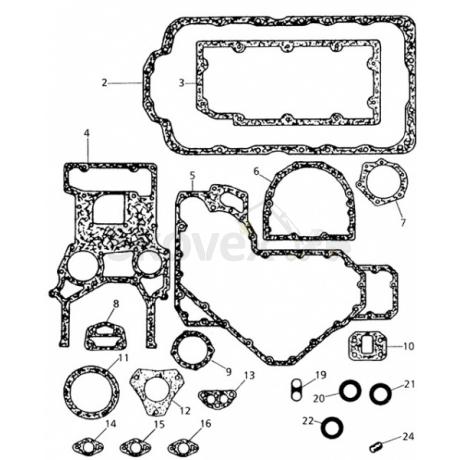 Gasket kit lower Perkins 1004