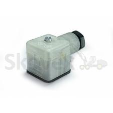 Solenoidi pistik 24V, Led, Varistor, 2P+E